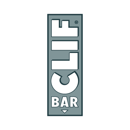Markenlogo CLIF Bar in Grau