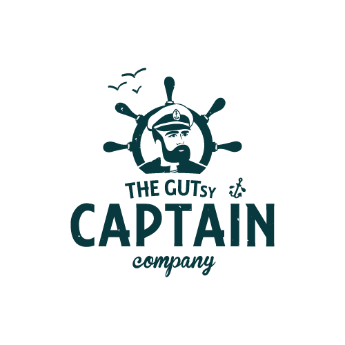 Markenlogo Captain Kombucha in Grau