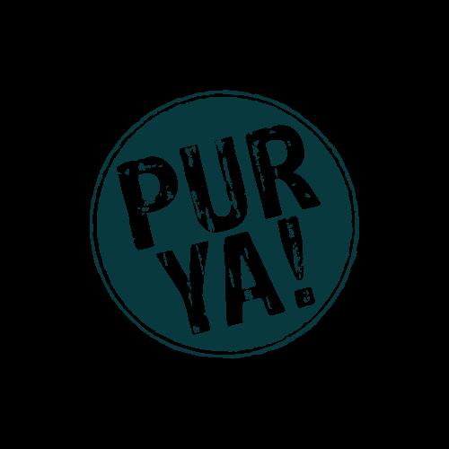 Markenlogo PURYA! in Grau