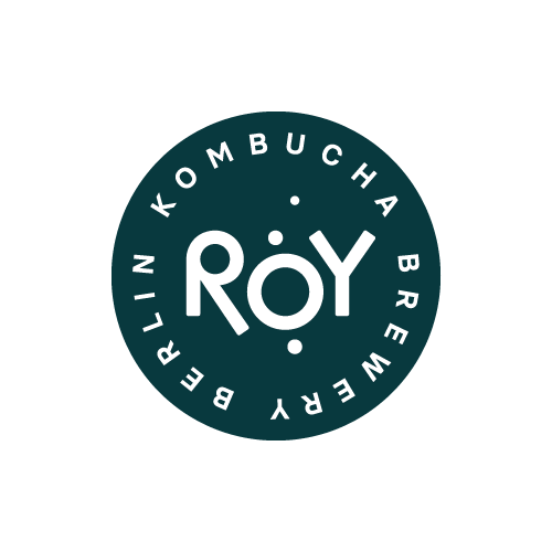 Markenlogo ROY Kombucha in Grau